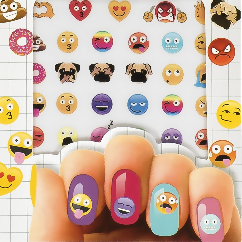 Nail art stickers pour ongles emoji