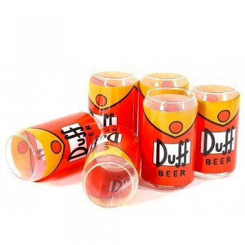 Pack six verres canettes Homer Simpsons Duff