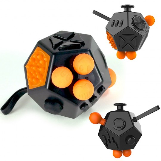 Fidget cube 12 faces, gadget anti-stress
