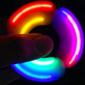 Hand spinner lumineux, gadget anti-stress Led