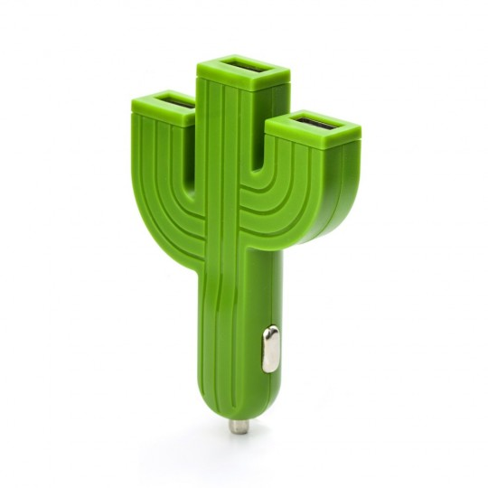 Cactus chargeur voiture 3 ports