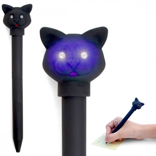 Stylo chat lumineux et sonore