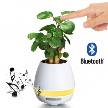 Pot de fleur musical bluetooth