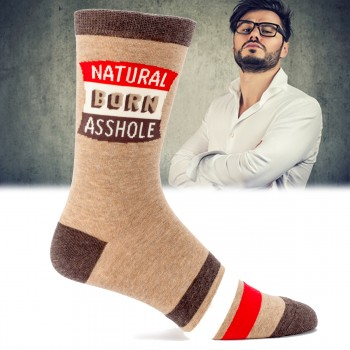 Chaussettes Natural born asshole