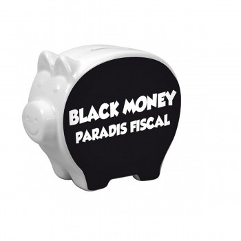 Tirelire cochon Black Money