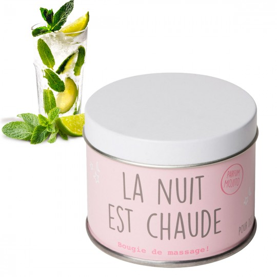 Bougie de massage mojito