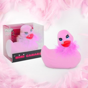 Mini canard fourrure vibrant rose