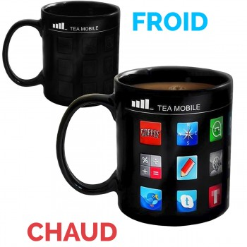 Mug applications iPhone thermoréactif