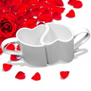 Set de 2 mugs coeur