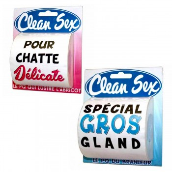 Lot de 2 papiers toilettes Clean Sex