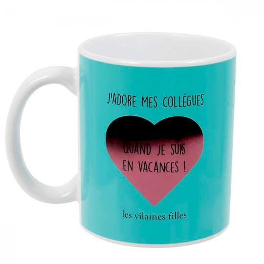 Mug thermoréactif J'adore mes collègues