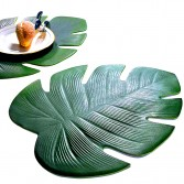 Lot de 2 sets de table Feuille tropicale