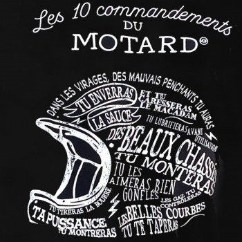 "T-shirt ""les 10 commandements du Motard"" XL"