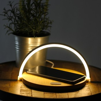 Lampe de chevet tactile chargeur induction
