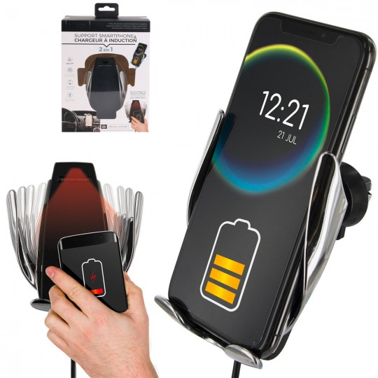 Support automatique smartphone chargeur induction
