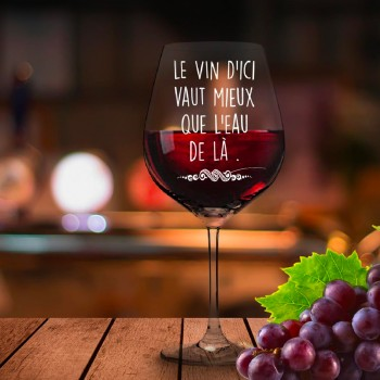 Verre à vin citation humoristique