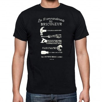 "T-shirt ""Les 10 commandements du Bricoleur"" XL"