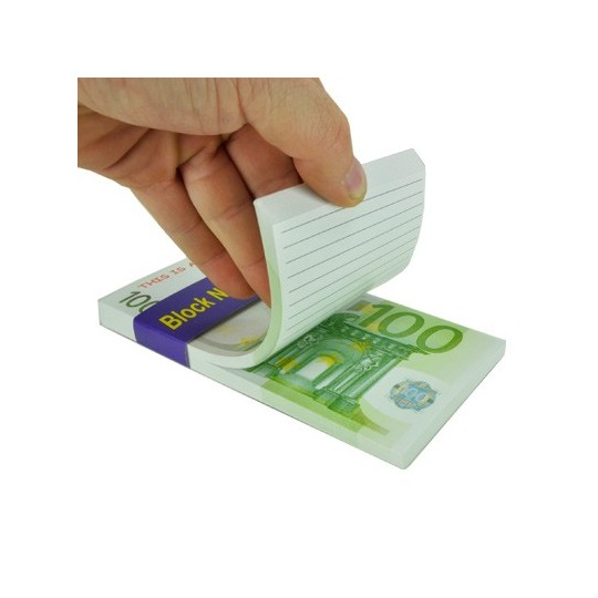 Bloc notes Billet de 100 euros