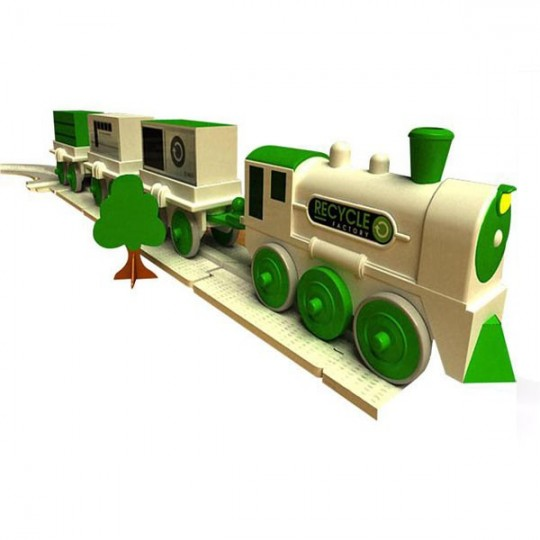 Kit train avec fabrication de rails recyclés