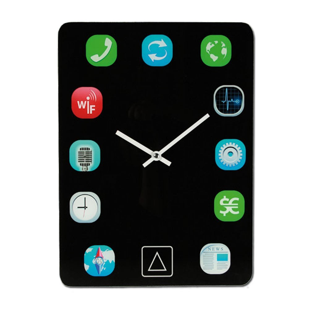 Horloge En Verre Design : Horloge en verre pad applications à
