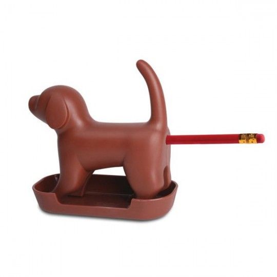 Chien taille-crayon chocolat