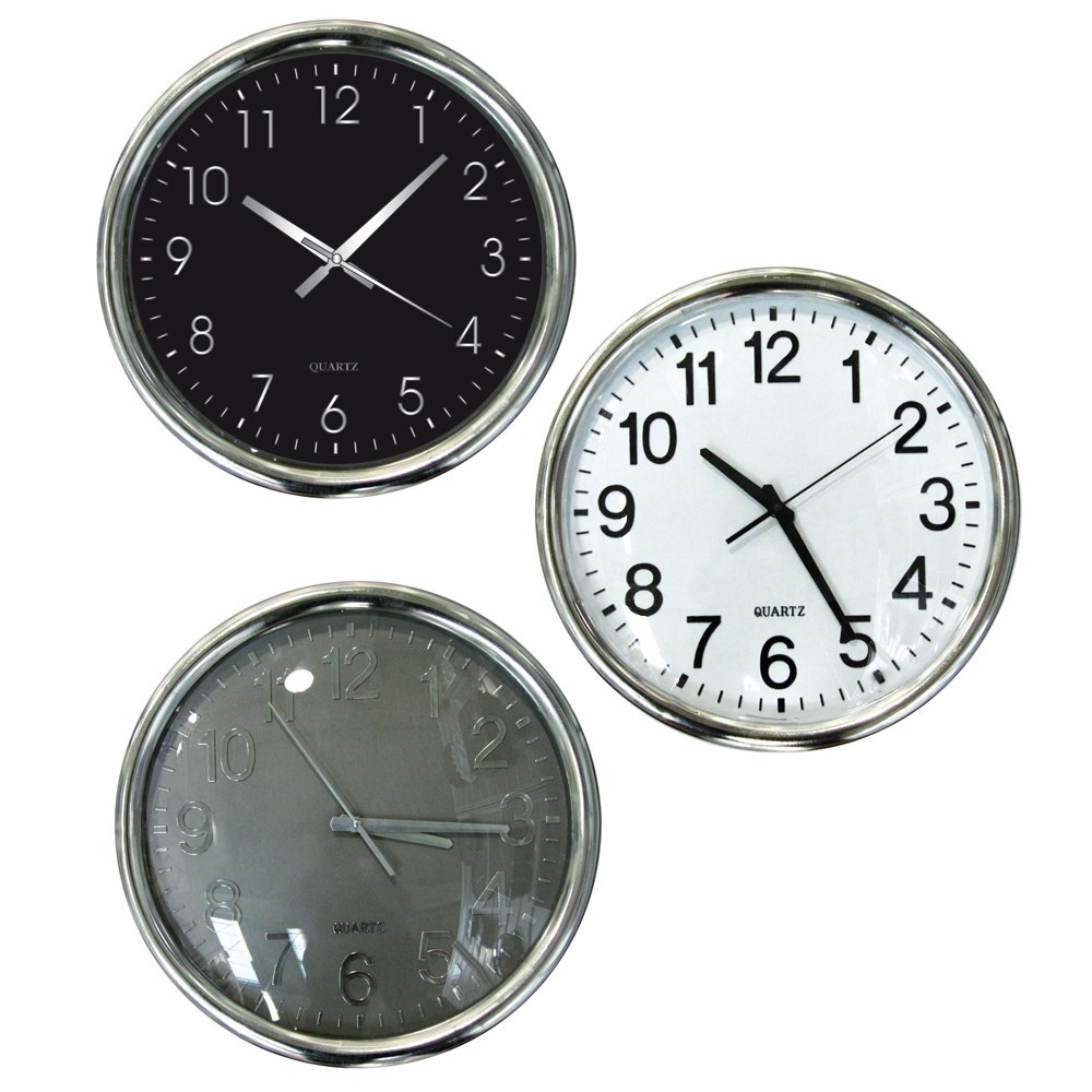 Horloge silencieuse 11 95 for Horloge murale design silencieuse