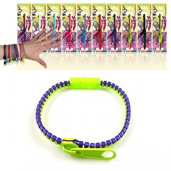 Bracelet fermeture éclair Zipper, lot de 5