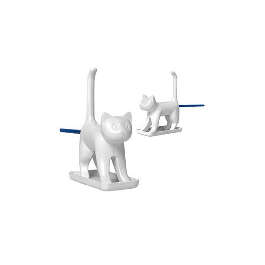 Vente Chat taille-crayon blanc
