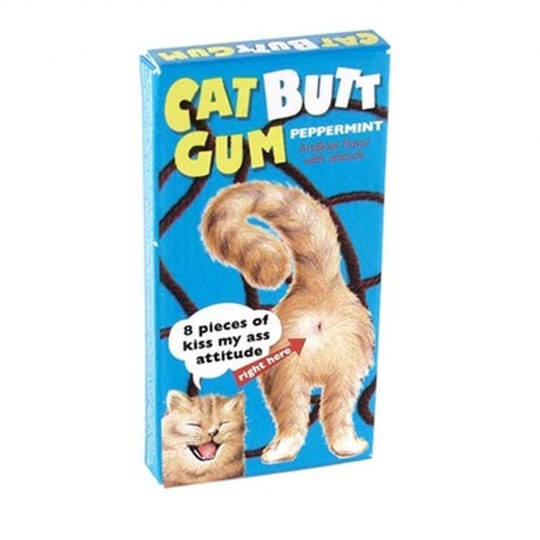 Chewing-gum Cat butt Attitude