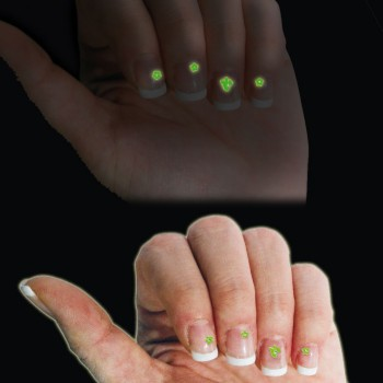 Stickers phosphorescents pour ongles, lot de 2.