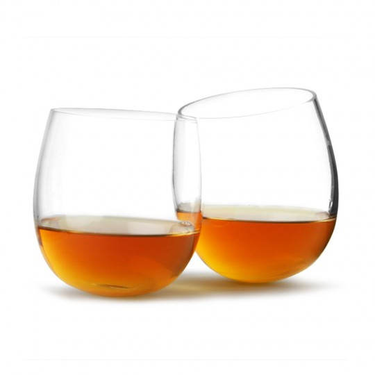 Verres à whisky design à fonds arrondis