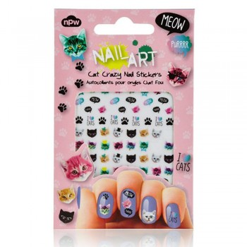 Nail art stickers pour ongles chats