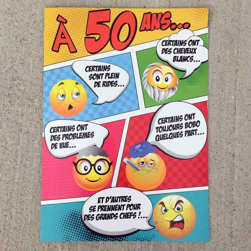 Carte Giga A 50 Ans Smiley A 14 95